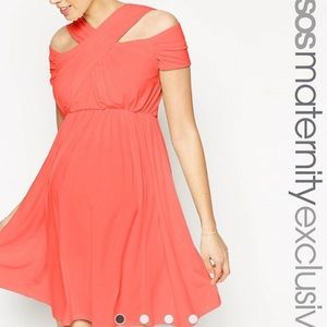 ASOS MATERNITY CORAL DRESS 8